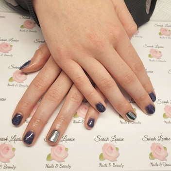 Lovely Gel Polish Aurora & Silver Mirror Chrome Nails
