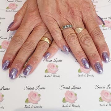 Sparkly Gel Polish Nails using Sugar Plum