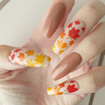 Autumn inspired ombre nails