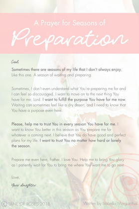A Prayer for Seasons of Preparation