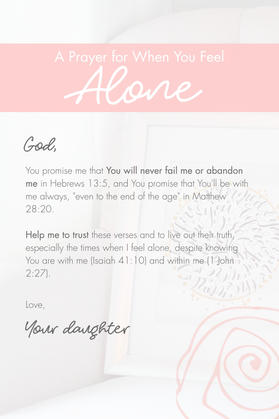 A Prayer for When You're Feeling Alone