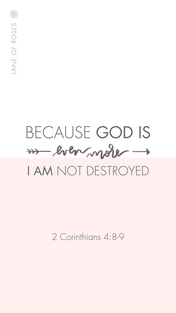 I am not destroyed