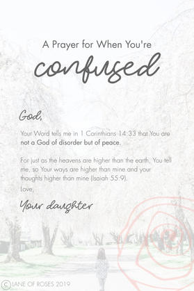 A Prayer for When You're Confused