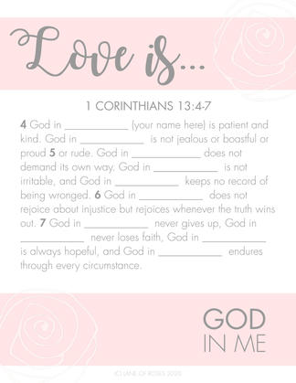Love Is....God In Me