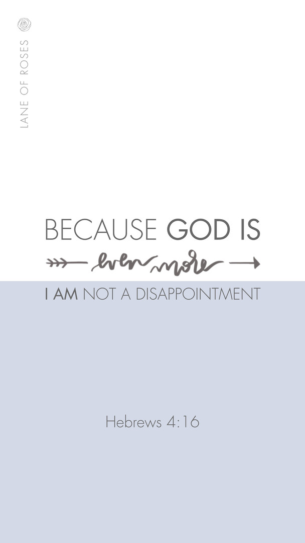 i am not a disappointment