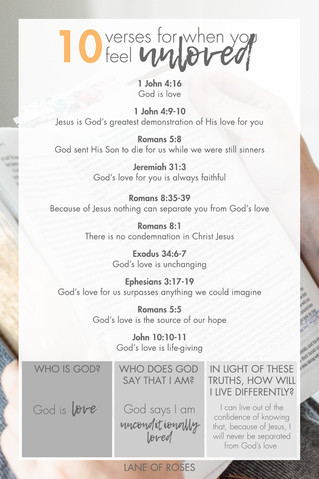 10 Verses for when you feel unloved  - U