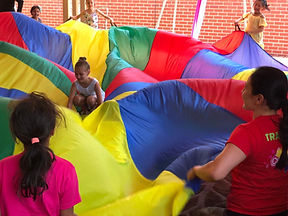 Parachute activity for kids