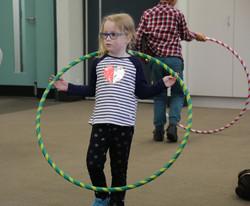 Kid with a hula hoop