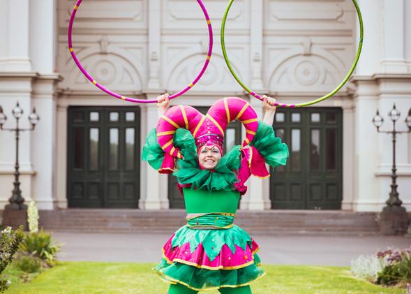 Harlequin hula hooper