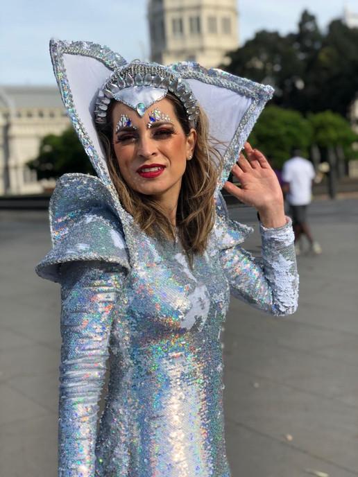 Ice queen performer