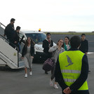 Chegada aos Açores