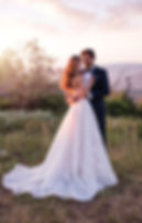 Strapless ballgown Martin Thrnburg wedding dress