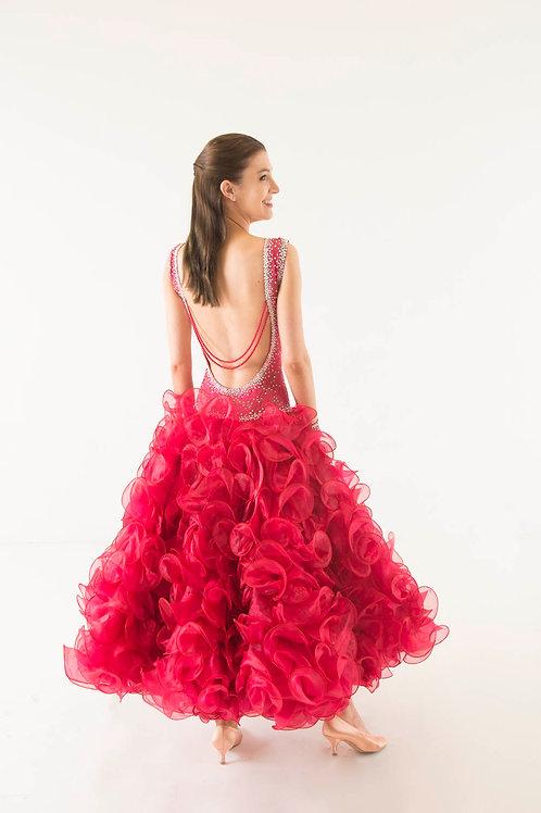HQ Designs Watermelon Ballroom Dress