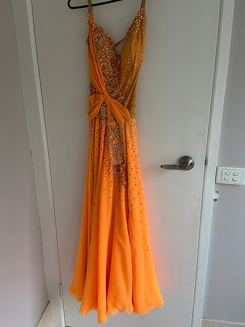 Orange Ballroom Dress