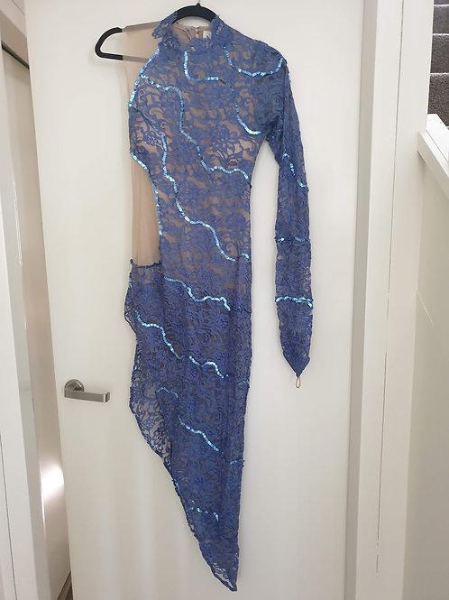 Blue rumba dress