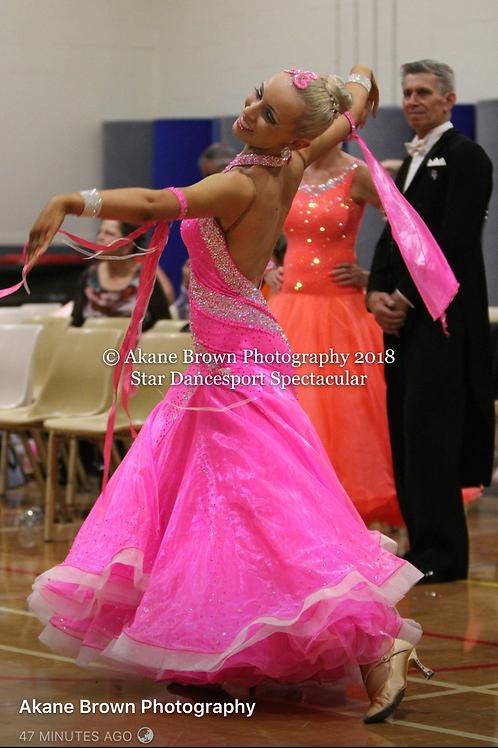 Beautiful Pink Ballroom Gown