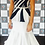 Thumbnail: Anna Maree Design black and white swirl ballroom dress