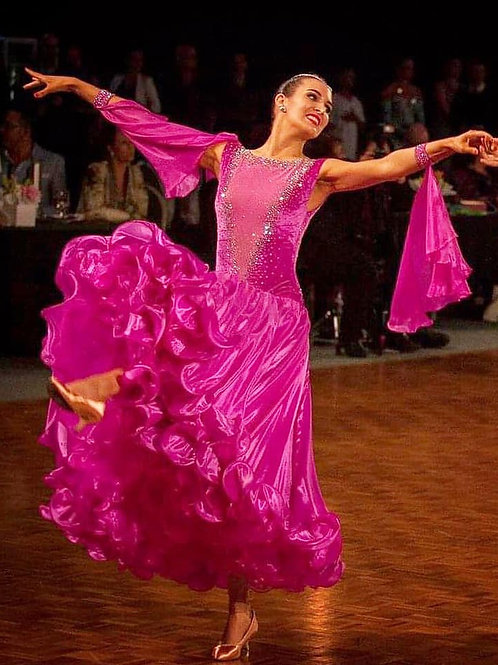 HQ Designs Berry Ballroom Dress