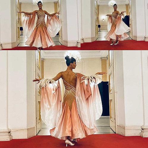 Gold & White Ballroom Dress