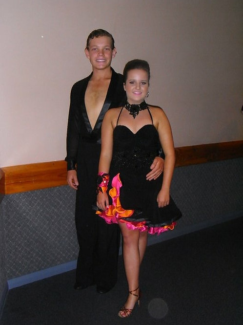 Black, Pink and Orange Brendan Vale Latin Dress