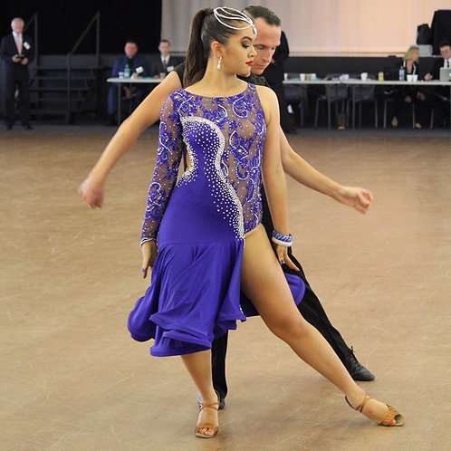 Blue Latin Dress