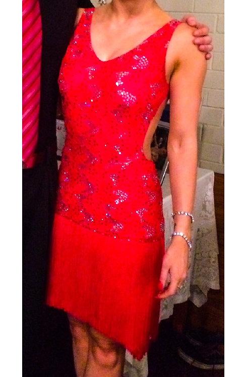 Fringed Red Latin Dress