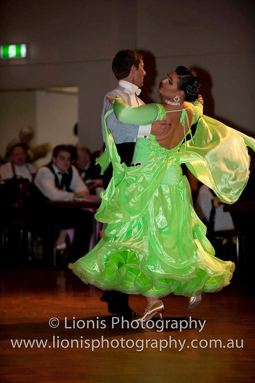 Citrus Green Ballroom Gown