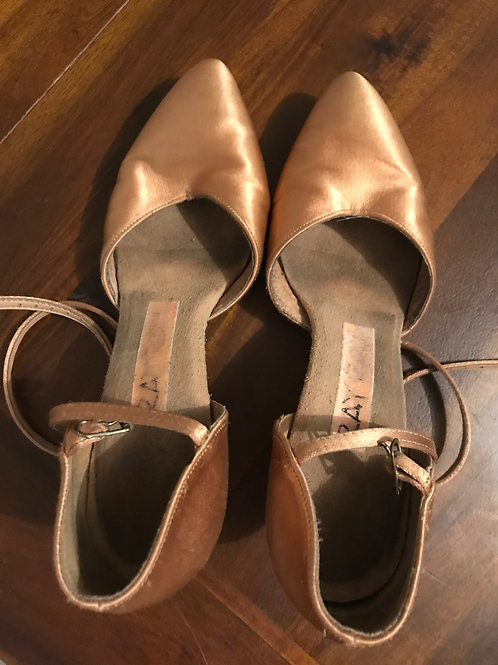Ray Rose Sirocco flesh satin ballroom shoes