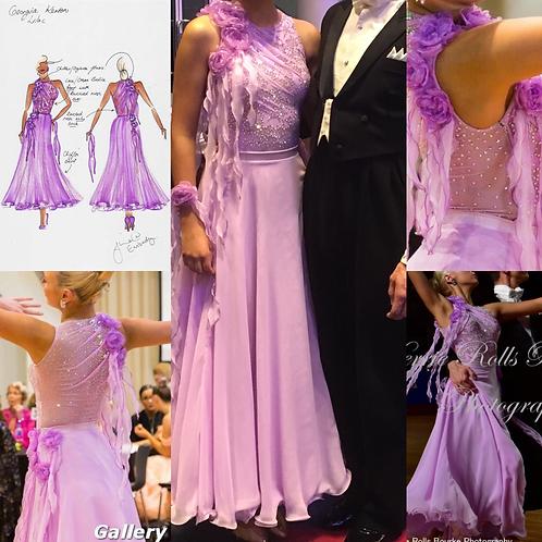Lilac Ballroom Dress