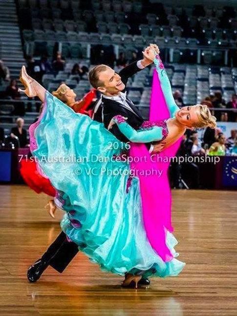 Mint Green & Pink Ballroom Dress