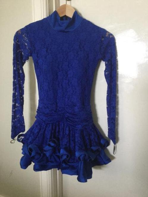 Blue Lace Latin Dress