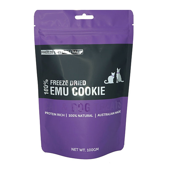 Australian Freeze Dried Treats for Cats& Dogs Emu Cookies 100g