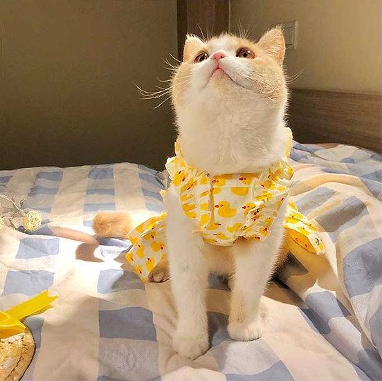 Little Yellow Duck Cotton Dress