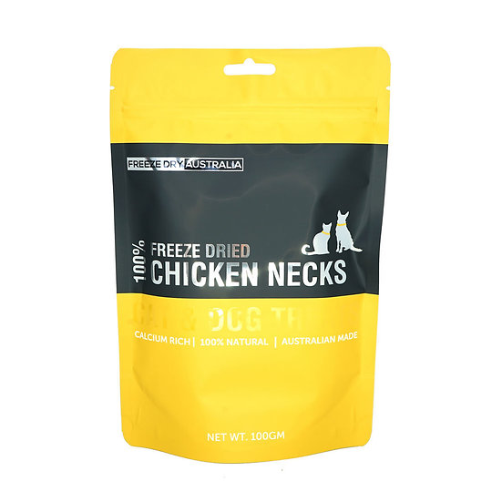 Australian Freeze Dried Treats for Cats& Dogs Chicken Necks 100g