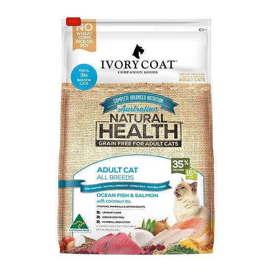 Ivory Coat Ocean Fish & Salmon Grain Free Adult Cat Food 6kg