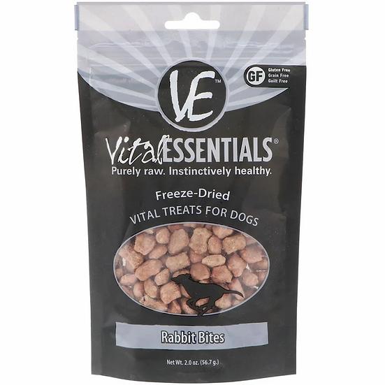 Vital Essentials Freeze-Dried Rabbit Bites for Dogs 56.7g