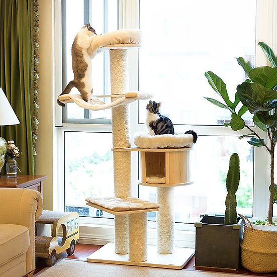 Catry Solid Wood Cat Tree 1.8m