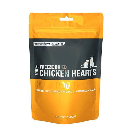 Australian Freeze Dried Treats Chicken Hearts 100g