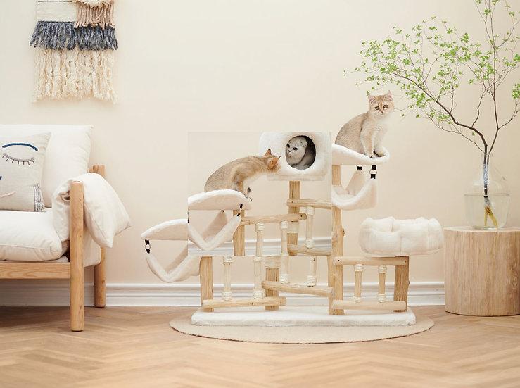 Petsbelle White Cloud Cat Tree