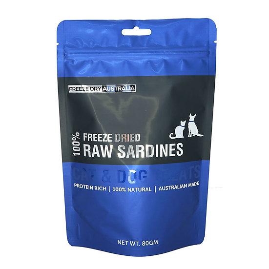 Australian Freeze Dried Treats for Cats& Dogs Raw Sardines 80g