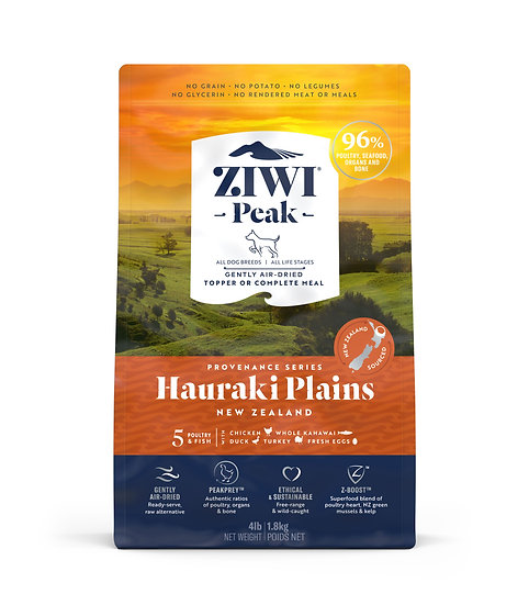 ZiwiPeak Provenance Ultimate Air-Dried Dog Food Hauraki Plain