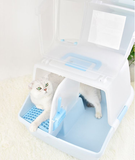 Alice Semi-Closed Cat Litter Box with Scoop
