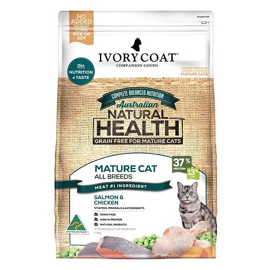 Ivory Coat Grain Free Ocean Fish & Chicken Senior Cat Food 6kg
