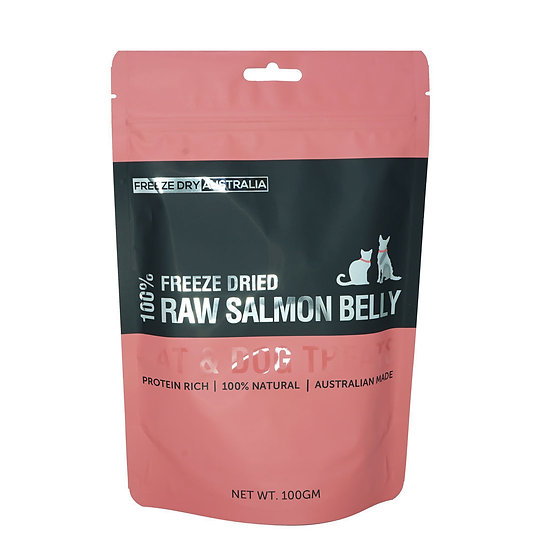 Australian Freeze Dried Treats for Cats& Dogs Raw Salmon Belly 100g