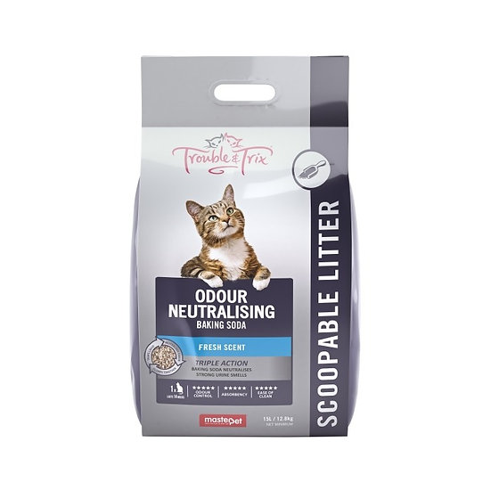 TROUBLE&TRIX Clumping Litter Baking Soda 15L