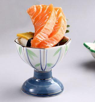 Japanese Ceramic High Stand Snacks Bowl