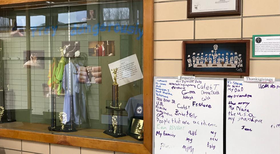 Main Office - Prayer Board