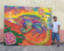 Day of the iguana canvas