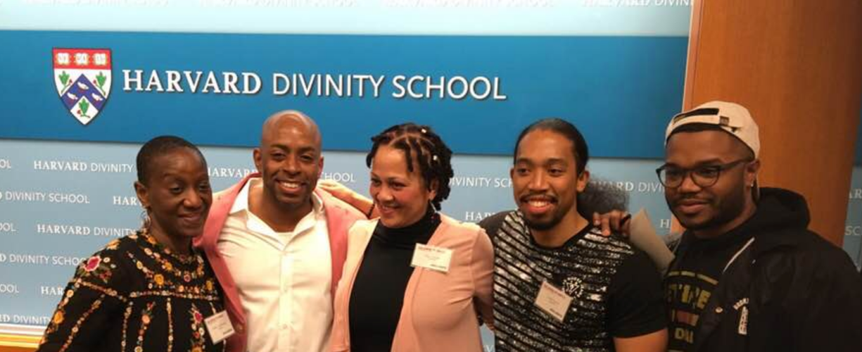 Stacey after speaking at Harvard Divinity School