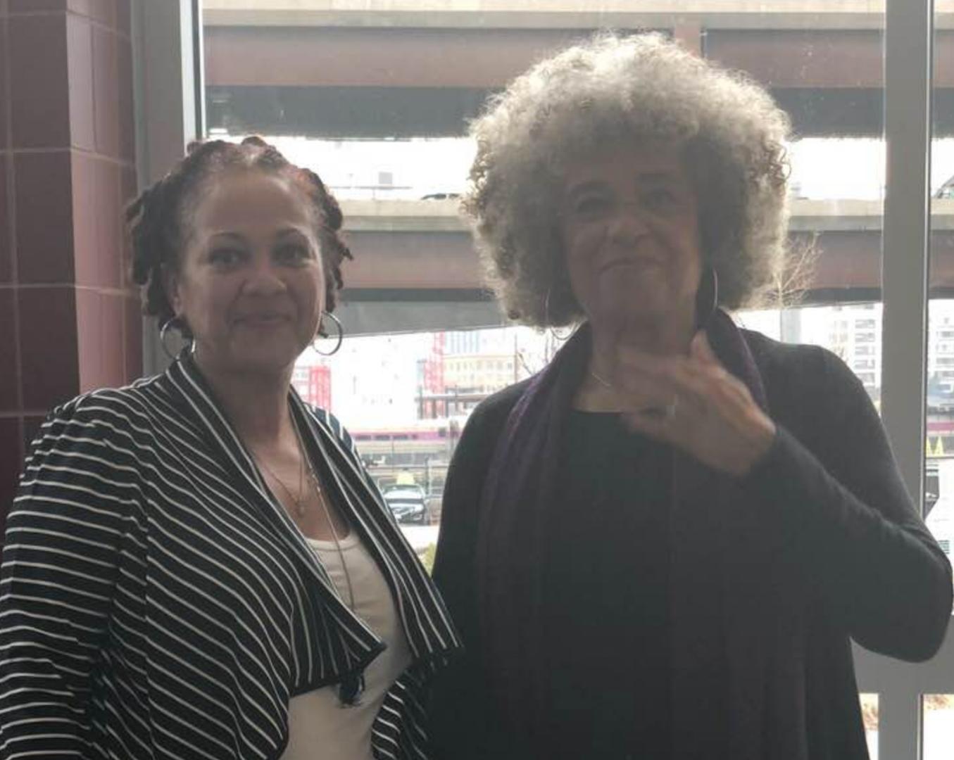 Stacey Borden and Angela Davis